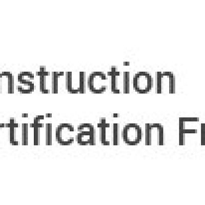 Construction Certification From