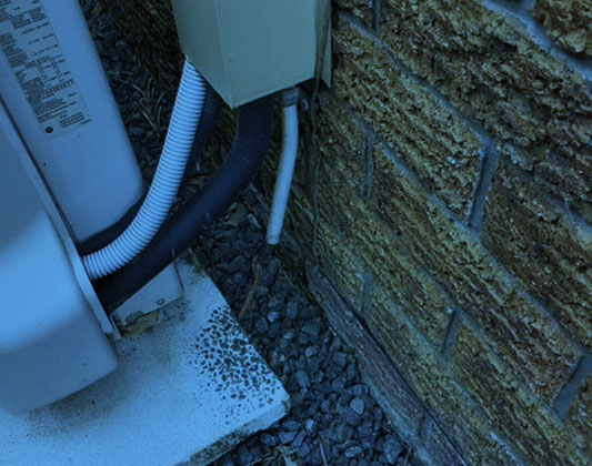 Incorrect Hot water system Drainage